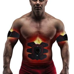 Image 3 - YOUKE Estimulador muscular eléctrico inteligente Unisex, 9 archivos, estimulador muscular Abdominal EMS, masajeador de Estimulador muscular Abdominal