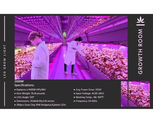 Image 4 - BESTVA 600W/1000W/1200W/1500W/2000W/3000W/4000W led grow light full spectrum for greenhouse indoor plants lamp veg flower seed