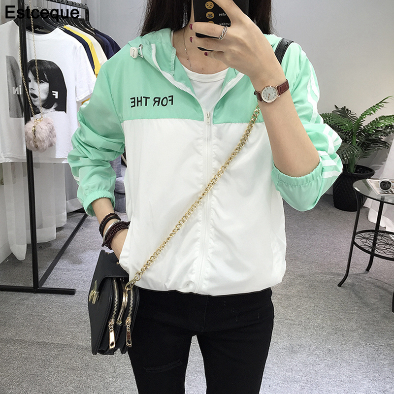 Basic     Jackets   Women 2019 New Fashion Women Capuchon Casual Dunne Windjack Female Runner Women   Jacket