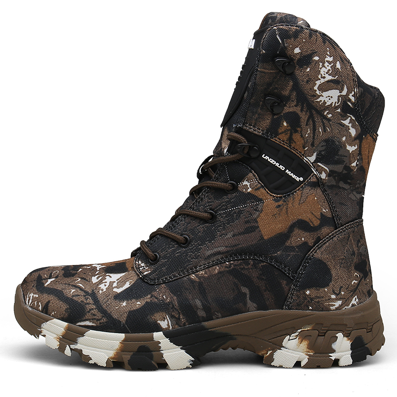 Best selling outdoor tactical sports men's camping hiking trainers male non-slip camouflage hunting hiking boots high quality image