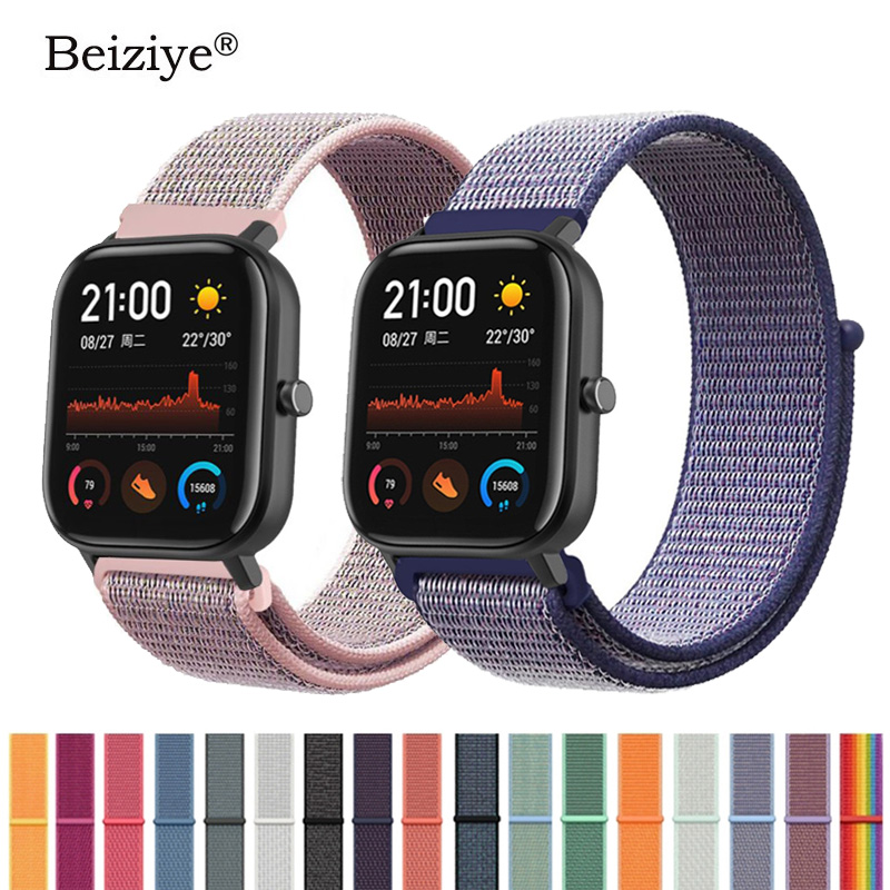 Sport Woven Nylon Loop Band For Xiaomi Huami Amazfit GTS Replacement Bracelet Strap Smart Watch Wearable Wrist Band Men Women