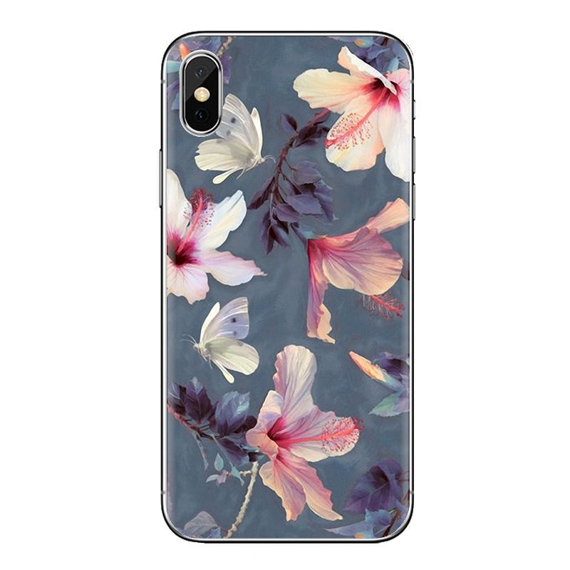 TPU Case Covers For Xiaomi Mi6 <font><b>Mi</b></font> 6 A1 Max Mix 2 5X 6X Redmi Note 5 5A 4X 4A <font><b>A4</b></font> 4 3 Plus Pro beautiful summer Flowers Watercolor image