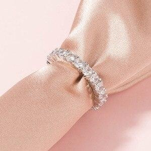 Модные кольца с кубическим цирконием для женщин, белые, розовые, золотые, круглые, вечерние, свадебные кольца с кристаллами, оптовая продажа