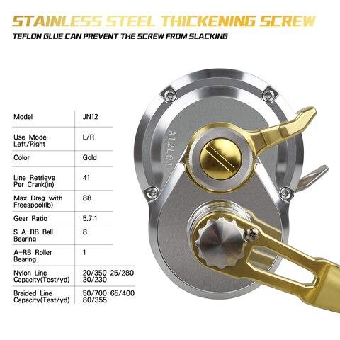 salgada jigging corrico carretel aluminio cnc maquina