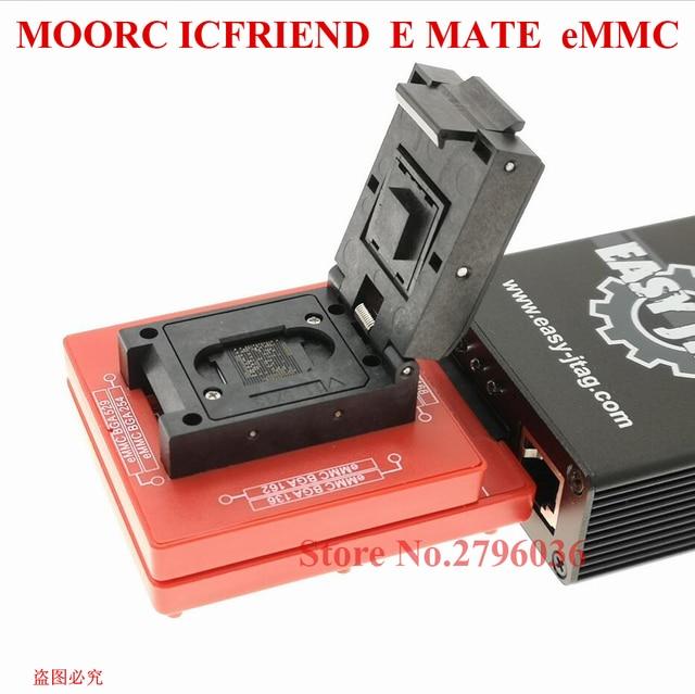 latest High speed version MOORC E MATE X  EMMC EMATE BGA 13 IN 1 for riff   easy jtag plus  ufi  medusa pro  and  emmc   atf box