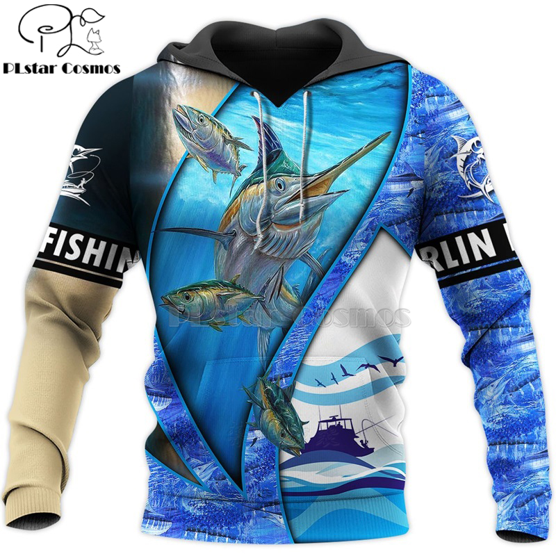 PLstar Cosmos New Fisherman fisher Fishing Art Harajuku casual Tracksuit Funny 3D Print Hoodies/Pullover/Jacket/Men Women-65