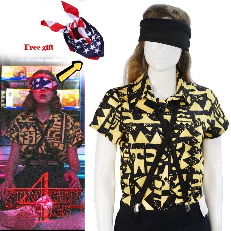 Необычные вещи, 11 костюмов для косплея, футболка, футболка, Женские аксессуары на Хэллоуин для девочек, головной убор