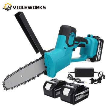 288V 8 Inch Electric Saw Chainsaw with 2PC 22980mAh Battery Brushless Motor Rechargeable Wood Cutter Also For Makita Battery 1