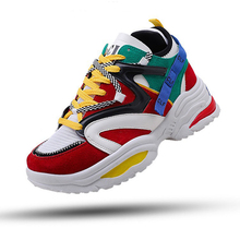 2019 Autumn Winter Harajuku Vintage Sneakers Men Women Breathable Platform Casual Shoes Outdoor Sports Cushioning Running