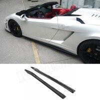 Carbon Fiber Side Skirt Car Styling For Lamborghini Gallardo LP550 LP560 LP570