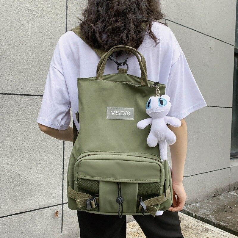 Nylon Waterproof Backpack Female 2020 Leisure Multifunctional Outdoor Folding School Bag Shoulder Sports Bag Rucksack