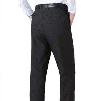 Men Dress Pants  Black Grey Slim Fit Formal Business Pants Man Dress Suit Pants Asian Pants Leisure Suits Male Casual Trousers