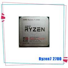 AMD Ryzen 7 2700 R7 2700 3.2 GHz ثماني النواة سنتين الموضوع 16 متر 65 واط معالج وحدة المعالجة المركزية المقبس AM4