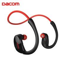 цена на DACOM Armor G06 IPX5 Waterproof Sports Headsphone Wireless Bluetooth V4.1 Earphone Ear-hook Running Headset with Mic Music NFC