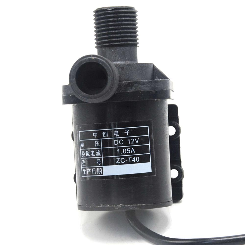 12V ZC-T40 Water Pump Solar Water Heater Circulating Pump DC Submersible Pump Brushless Miniature Magnetic Oil Pump