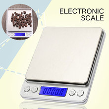 Stainless Steel 3kg 0.1g I2000 Mini Scale Digital Scale Portable with Tray Jewelry Kitchen Scale Weighing Tool Platform new portable milligram digital scale 30g x 0 001g electronic scale diamond jewelry pocket scale home kitchen