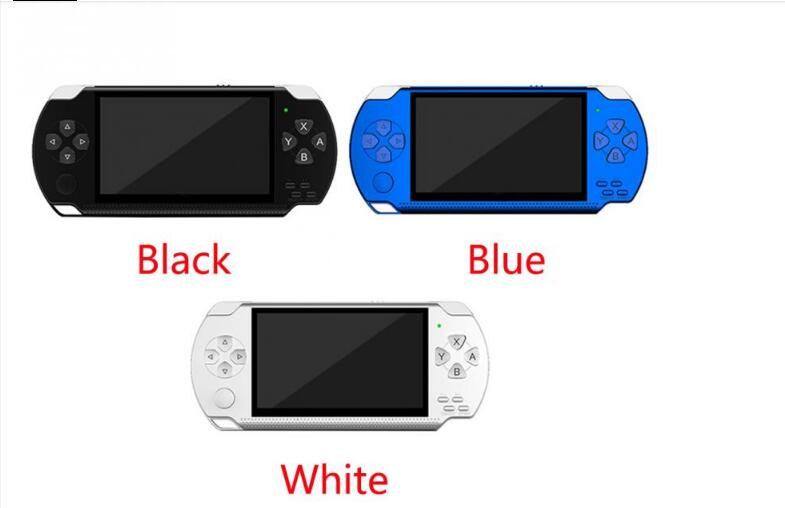 New Handheld Game <font><b>Console</b></font> <font><b>4.3</b></font> inch In-built 8GB with Retro Games For PPSP/MP4 Video/MP5/Camera/E-book Portable white or black image
