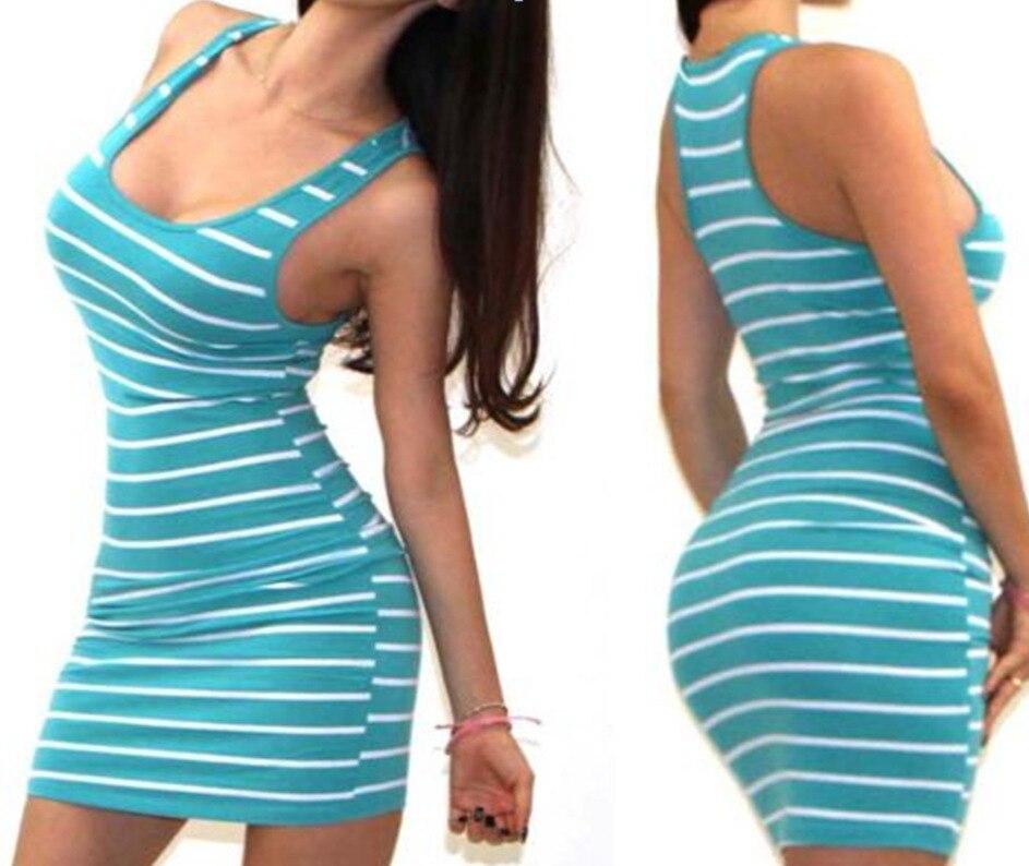 H54fc4bdcaac14db090e282443e0ae173l Long Short sleeve autumn winter Casual Women Striped Bandage Bodycon Dress Sexy Slim Sleeveless Evening Party Mini Dress