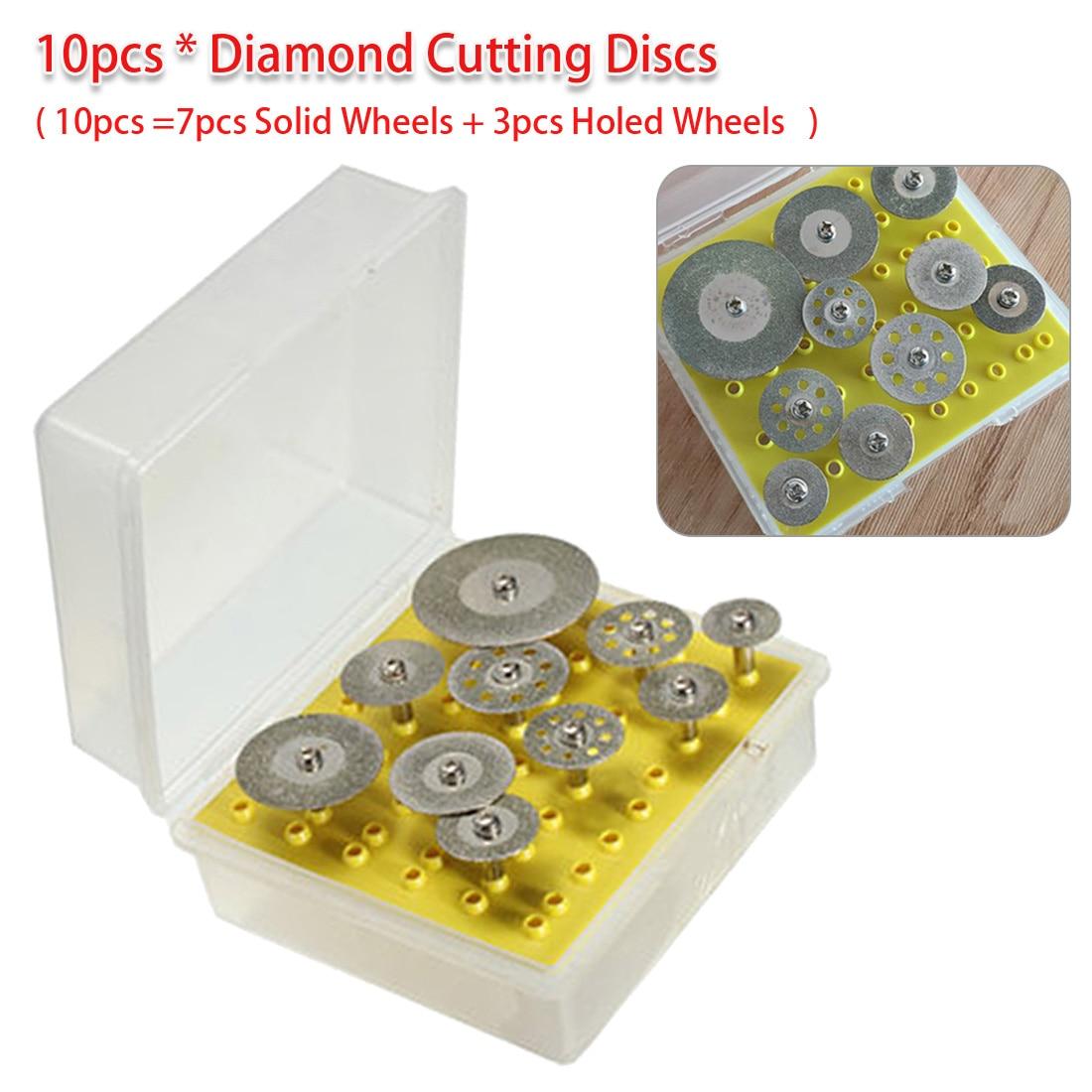 Cut-off Hold Wheel Set 10pcs/set Diamond Cutting Discs For Dremel Rotary Tool Cutting / Grinding / Engraving Tools
