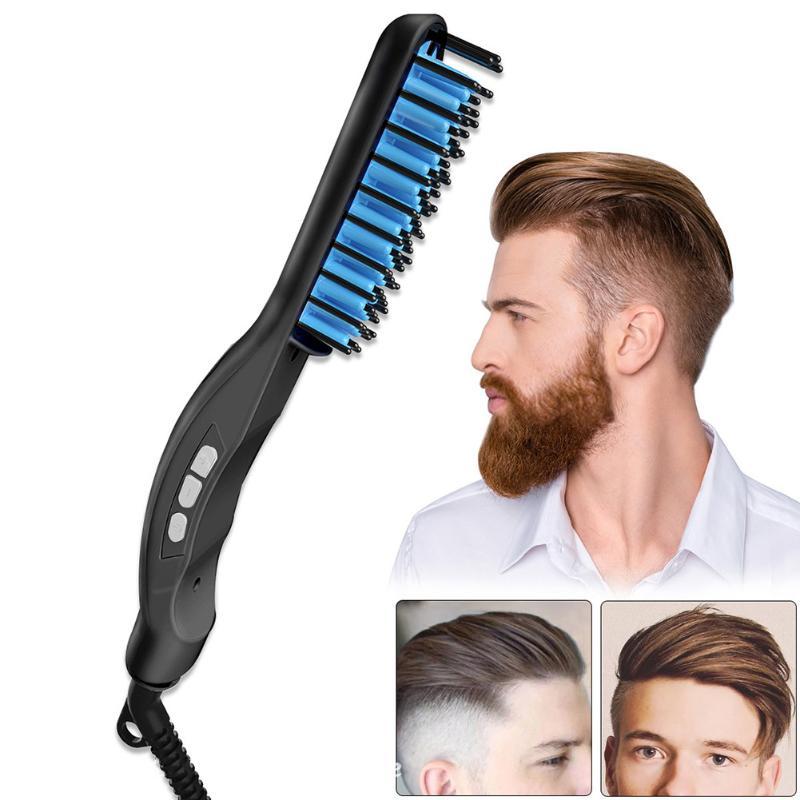 Multifunctional Men Hair Brush Beard Straightener Hair Straightening Curler Comb Electric Hair Styler Tools