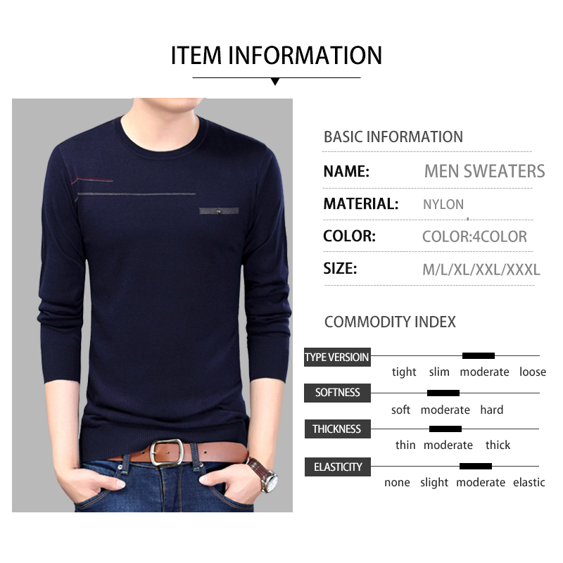 Men Brand Basic Sweater Men Clothes 2020 Autumn Winter Sweater Thick Warm Pullover Men Business Casual Pull Homme Sweaters