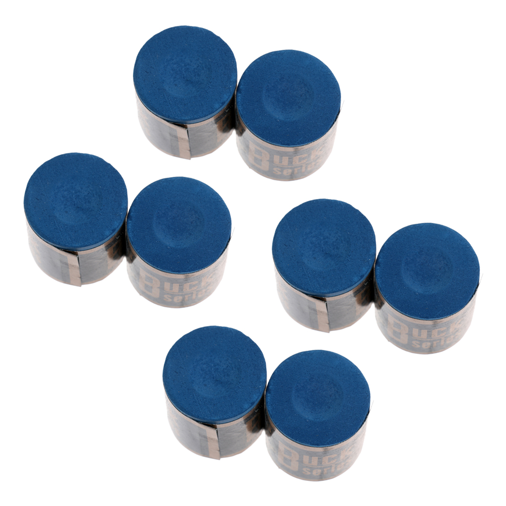 Calcium Carbonate Quality 8 Pieces Snooker Pool Cue Tip Chalk Sets Billiard Accessories Blue Billiard Chalk