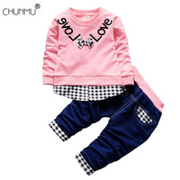 Baby Boy Clothes Sping Autumn Kids Casual Long Sleeve Patchwork Tops + Pants 2pcs/set Baby Clothes Fashion Sport Sweater Suit