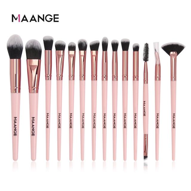 MAANGE Makeup Brushes Pro Pink Brush Set Powder EyeShadow Blending Eyeliner Eyelash Eyebrow Make up Beauty Cosmestic Brushes 2