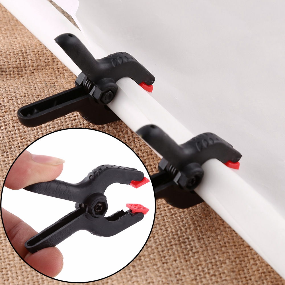 6pcs Photo Studio Nylon Clip Wide Opening Spring Clamp For Photography Backdrop Background Stand Clamps Camera Accessories