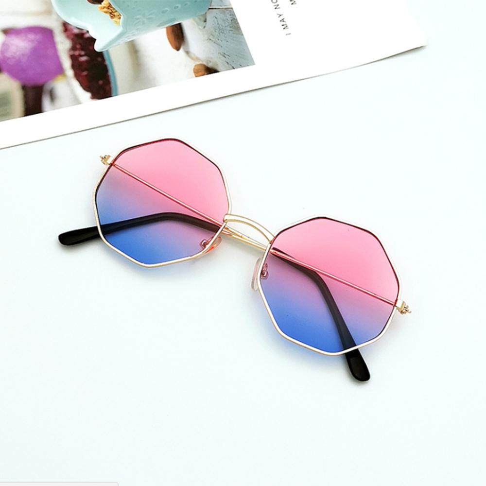 1pc Women Fashion Irregular Girls Colorful Lens Metal Frame Sunglasses Eyewear Glasses women Drive Goggles Anti UV400 Wholesale