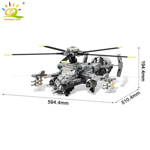 """Конструктор HUIQIBAO """"Боевой вертолет"""", 1161 шт."""