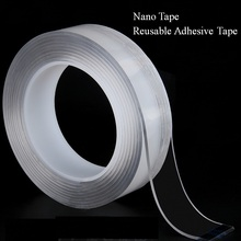 1M/5M Nano Magic Tape Reusable Transparent Double-sided Can Washed Fixing No Trace Car