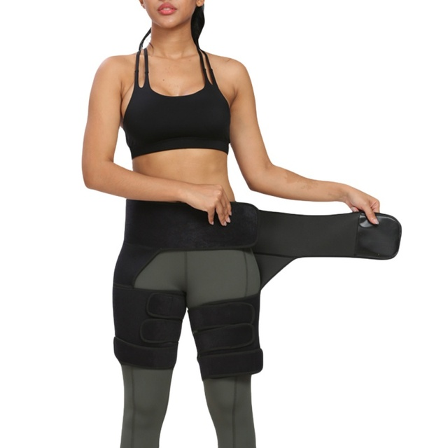 1pc Slim Thigh Trimmer Waist Shapers Slender Slimming Belt Sweat Shapewear Toned Muscles Band Thigh Slimmer Wrap 12 2