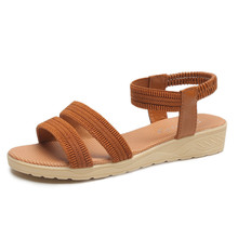 Summer Shoes Sandals Woman 2020 Flat Sandalias Mujer Thin strips Gladiator Beach Sandals Ladies Flip Flops Slides(China)