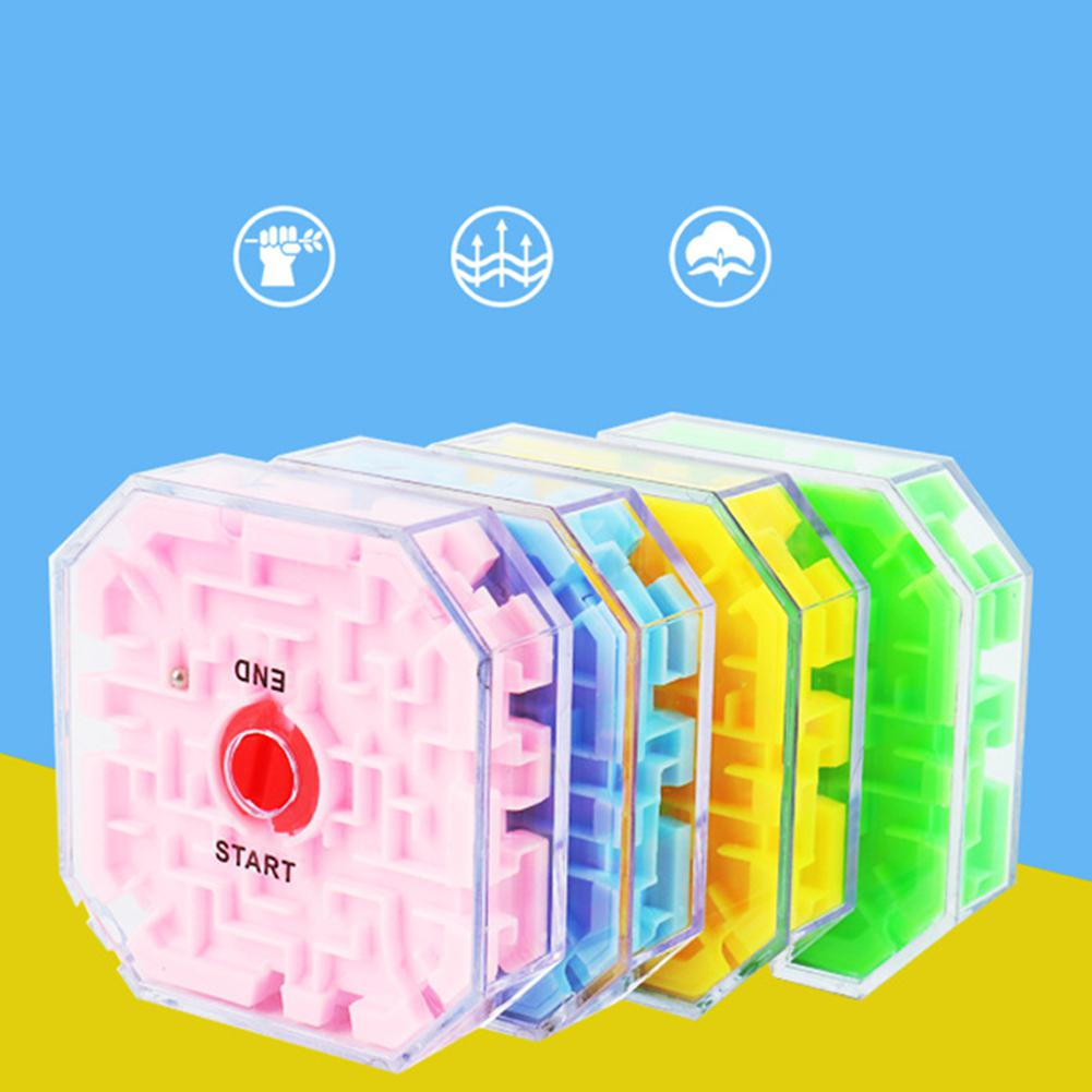 Puzzle Early Educational Toys Children Transparent 3d Beads Labyrinth Marbles Magic Cube Toy Children Gift Kids Toys