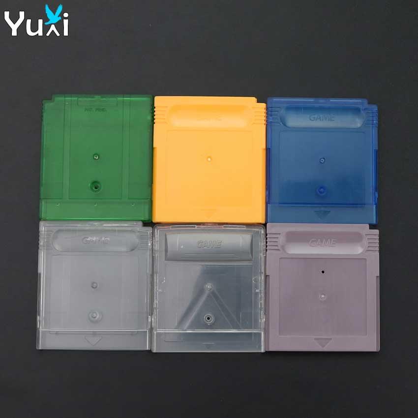 Yuxi claro verde azul cinza caixa de cartão substituição para gba sp jogo cartucho habitação escudo para gb gbc cartão caso