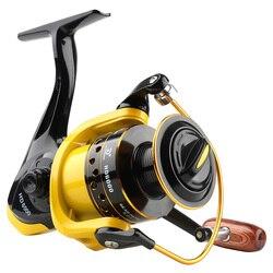 DONQL Spinning kołowrotek metalowa szpula Max Drag 8kg cewka wędkarska 5.2: 1 High Speed kołowrotki wędkarskie sprzęt do wędkarstwa karpiowego