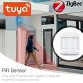 Tuya ZigBee PIR Sensor IFTTT Batterie Powered Smart Wireless WIFI PIR Motion Sensor Detektor Home Alarm System ZigBee PIR Sensor-in Sensor & Detektor aus Sicherheit und Schutz bei