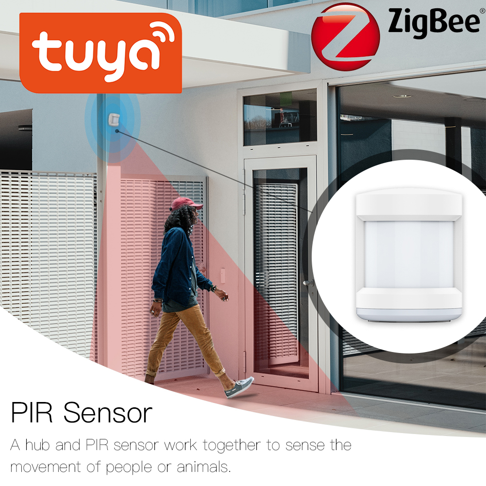 Tuya ZigBee PIR Sensor IFTTT Battery Powered Smart Wireless WIFI PIR Motion Sensor Detector Home Alarm System ZigBee PIR Sensor