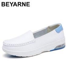 Beyarnelefairy chaussures plates pour femmes 2019 avec cale dautomne avec chaussures basses pour mère infirmière chaussures mocassins blancs pour womenL062