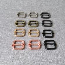 цена на 1 pcs 20mm metal adjuster slider bag handbag cat dog collar sewing garment accessories purse straps belt buckle good quality