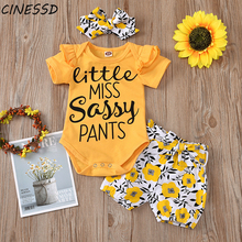 Pretty Princess Clothing Summer Girls Letter Printed Tops Ruched Flower Bow Shorts Hairbands Toddler Kids Girl Clothes Set 0-24M korean girl fashion summer letter printed kids petal sleeves t shirt shorts suits pretty girl clothes