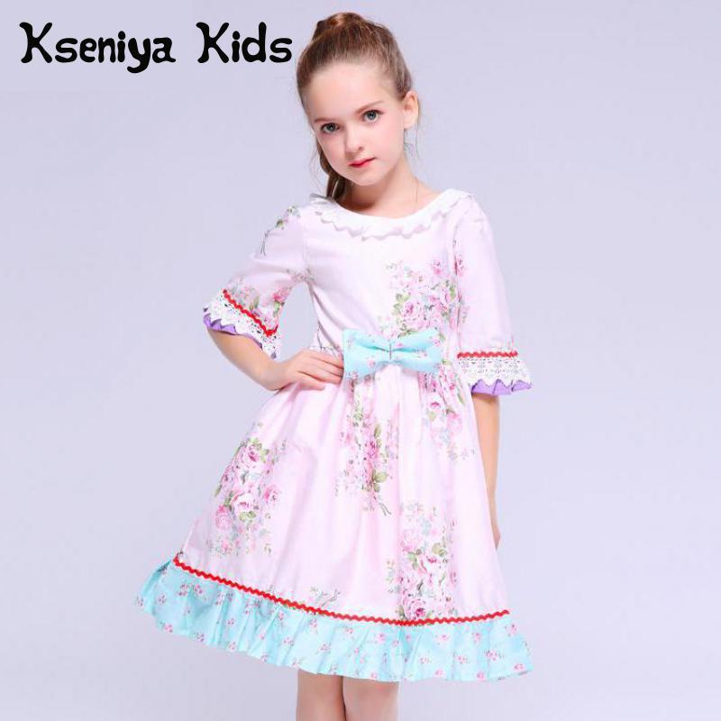 Kseniya enfants bébé robe hiver pétale à manches longues princesse rose fleur Enfant enfants filles Pageant Vintage toplancha robes mignonnes
