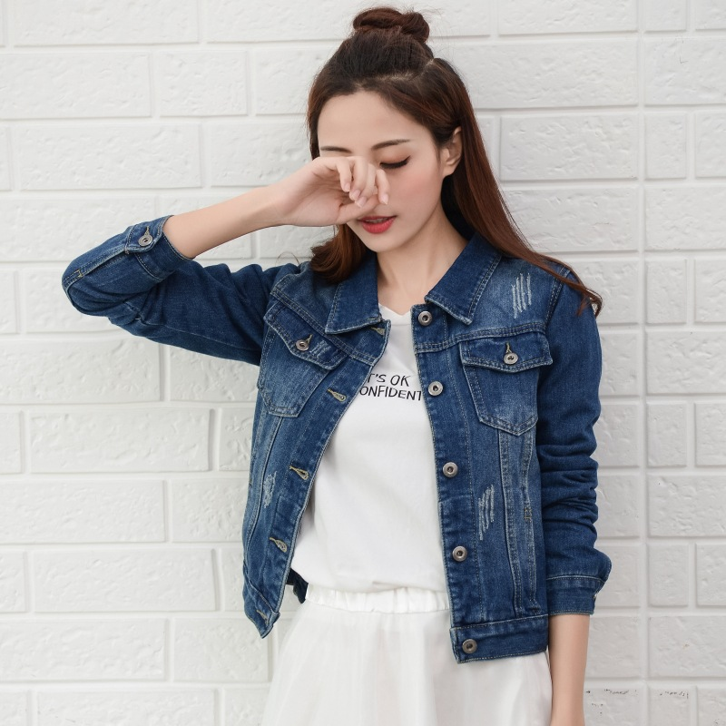 Autumn And Winter Denim Jacket 8 Color Women Jacket Girls Long Sleeve Jacket Korean Slim Fit Girls Coat