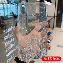 Funda de silicona para Huawei P20 Lite Pro funda brillante de Estrella de Plata para Huawei P 20 Lite Pro 20pro 20lite luz P20Pro de la cubierta del TPU del
