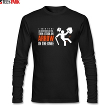 Arrow in the Knee Game Skyrim T-shirt Men's Ridiculous 100%