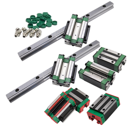 2pc HGR20 HGH20 Square Linear Guide Rail ANY LENGTH+4pc Slide Block Carriages HGH20CA/flang HGW20CC CNC Router Engraving