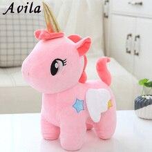 Милый единорог, плюшевая игрушка, Детская Успокаивающая искусственная животная, мягкая плюшевая игрушка, подарок на день рождения для дево...