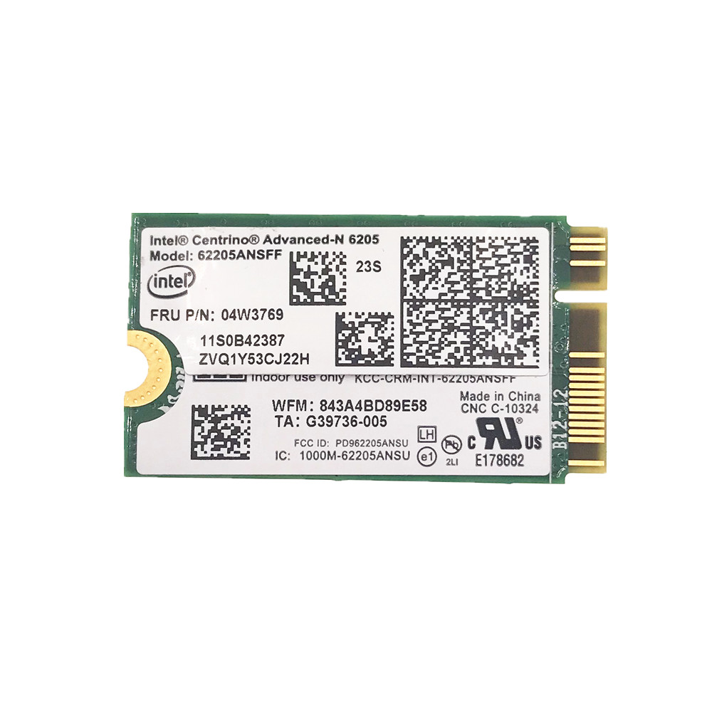 For Lenovo Thinkpad X1 Carbon 62205ANSFF N6205 62205AN SFF WIFI Card Wifi Wlan Network Cards 04W3769 NGFF M.2 6205