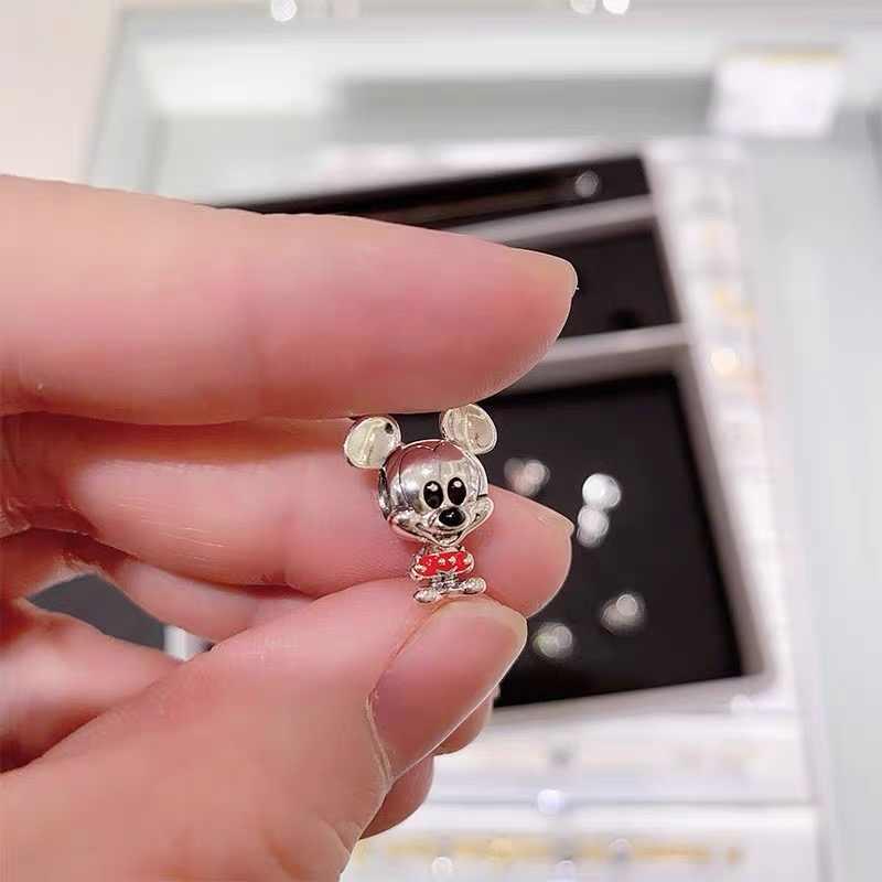 Novo original prata 925 lilo & stitch mickey minnie nemo aristocats charme diy talão fino caber pandora encantos pulseira jóias 2020